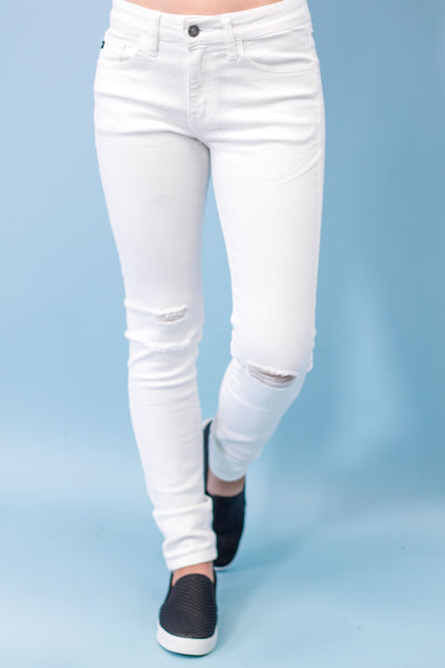 White Distressed Skinny Jean-[product_description]-[product_tag]-Stella B. Clothing