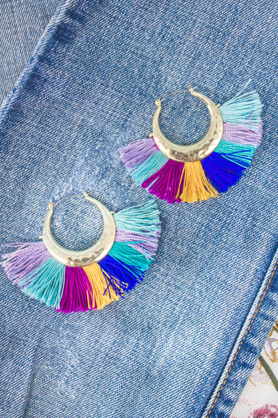 Flamenco Tassel Hoops-[product_description]-[product_tag]-Stella B. Clothing