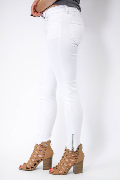 White Ankle Zip Skinny Jeans-[product_description]-[product_tag]-Stella B. Clothing
