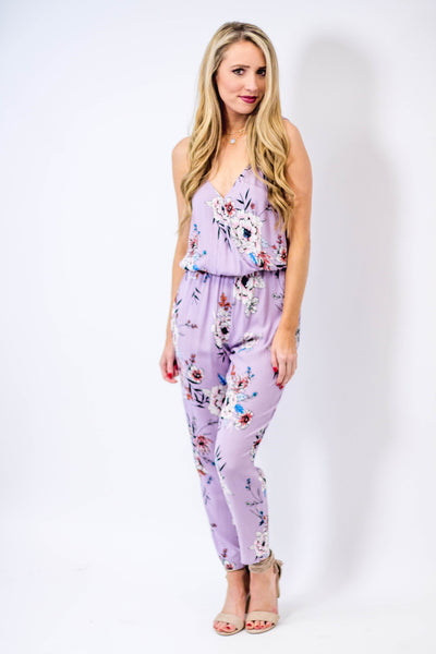 Lilac Floral Jumpsuit-[product_description]-[product_tag]-Stella B. Clothing