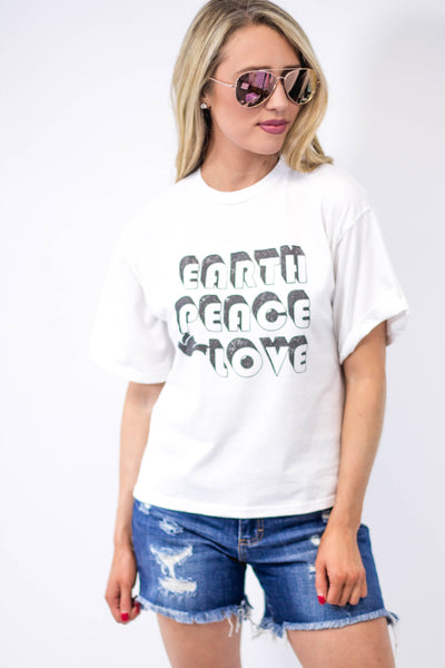 Earth Peace Love Graphic Tee-[product_description]-[product_tag]-Stella B. Clothing