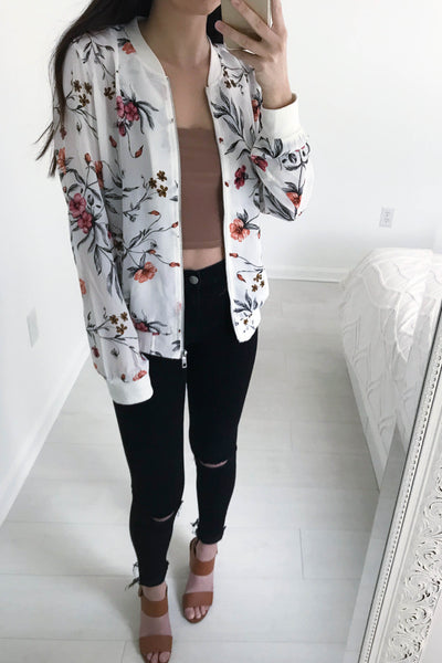 Floral Bomber Jacket-[product_description]-[product_tag]-Stella B. Clothing