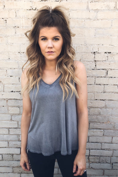 Candy Pop Mineral Washed Tank - Grey-[product_description]-[product_tag]-Stella B. Clothing