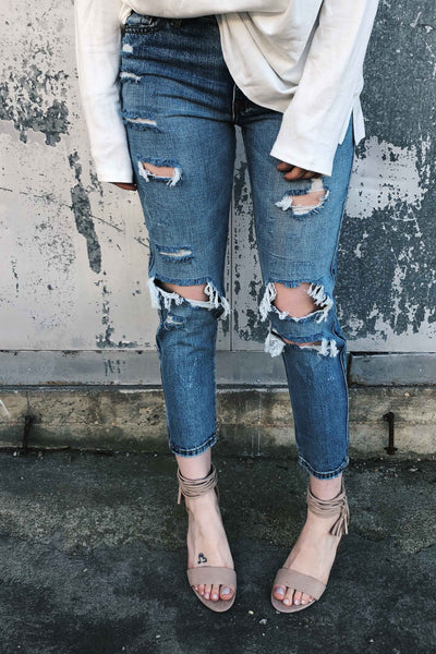 Boyfriend Distressed Crop Jean-[product_description]-[product_tag]-Stella B. Clothing