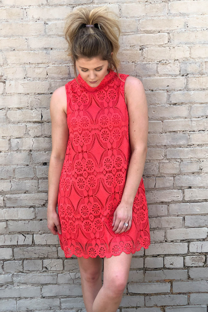 Coral Medallion Dress-[product_description]-[product_tag]-Stella B. Clothing
