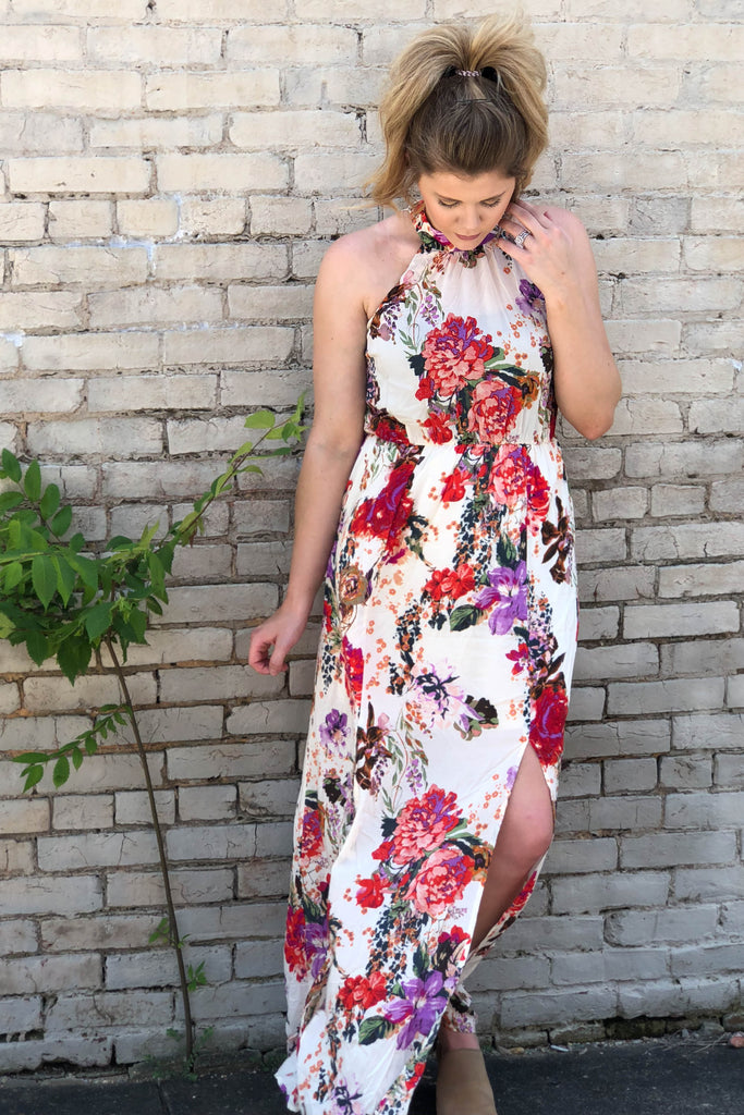 Mimi Floral Halter Dress-[product_description]-[product_tag]-Stella B. Clothing