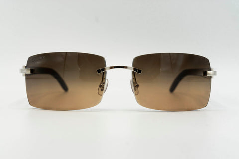 Cartier Buffalo Horn - Black over Brown Gradient