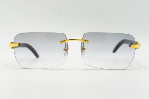 Cartier Buffalo Horn - Grey Clear Gradient