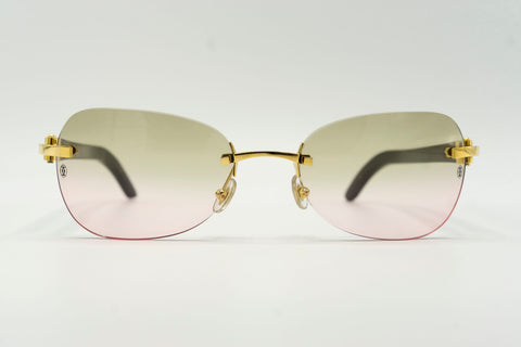 Cartier Buffalo Horn - Green & Pink Gradient