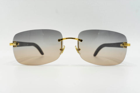 Cartier Buffalo Horn - Grey & Brown Gradient