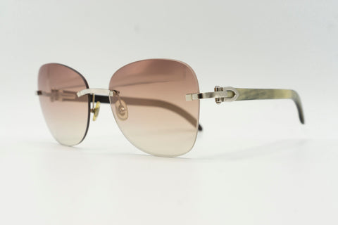 Cartier Buffalo Horn - Pink & Grey Gradient