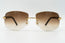 Cartier C Decor Vintage Sunglasses Brown Gradient Plastic Lens Front