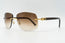 Cartier C Decor Vintage Sunglasses Brown Gradient Plastic Lens Front 2
