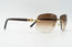 Cartier C Decor Vintage Sunglasses Brown Gradient Plastic Lens Front 3