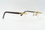Cartier C Decor Vintage Sunglasses Brown Plastic Clear Lens Front 3