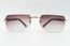 Cartier C Decor Vintage Sunglasses Purple Rimless Vintage Julz Front