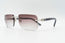 Cartier C Decor Vintage Sunglasses Purple Rimless Vintage Julz Front 2