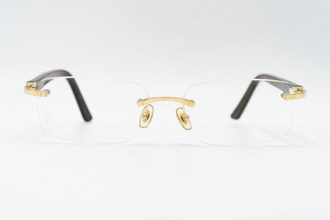 Cartier C Decor Vintage Sunglasses Clear Lens Vintage Julz Front