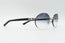 Cartier C Decor Black Plastic Vintage Sunglasses Grey Gradient Oval Lens Vintage Julz Front 3