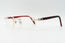 Cartier C Decor Red Plastic Vintage Sunglasses Clear Lens Vintage Julz Front 2