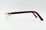 Cartier C Decor Red Plastic Vintage Sunglasses Clear Lens Vintage Julz Left Temple