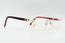 Cartier C Decor Red Plastic Vintage Sunglasses Clear Lens Vintage Julz Front 3