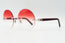 Cartier C Decor Red Plastic Vintage Sunglasses Red Gradient Oval Lens Vintage Julz Front 2