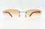 Cartier Rimless Woods 'Platinum' - Tan Gradient