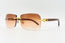 Cartier Rimless Woods - Cognac Gradient