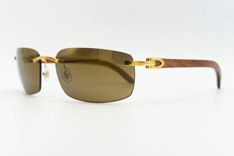 Cartier Rimless Woods - Green Flash