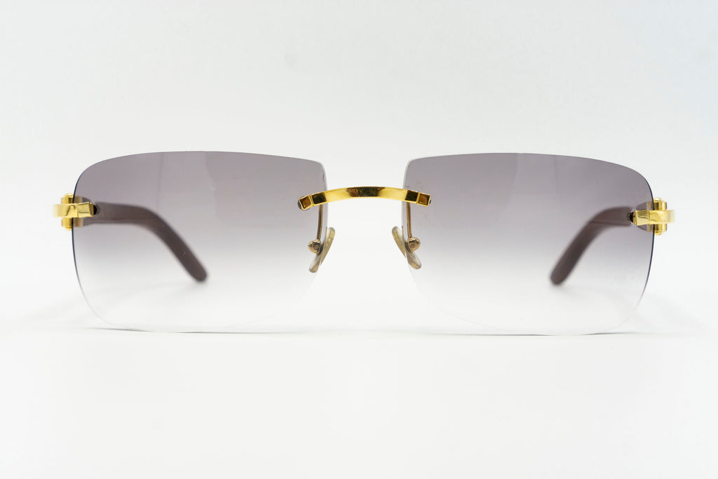 Cartier Rimless Woods - Grey Gradient