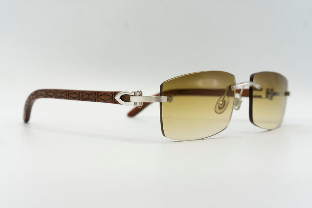 Cartier Rimless Woods (Logos) - Green Gradient