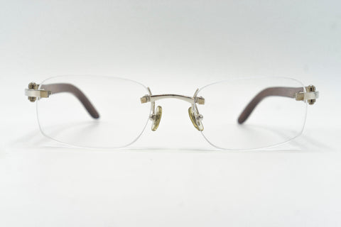 Cartier Rimless Woods (Platinum) - Clear Lens