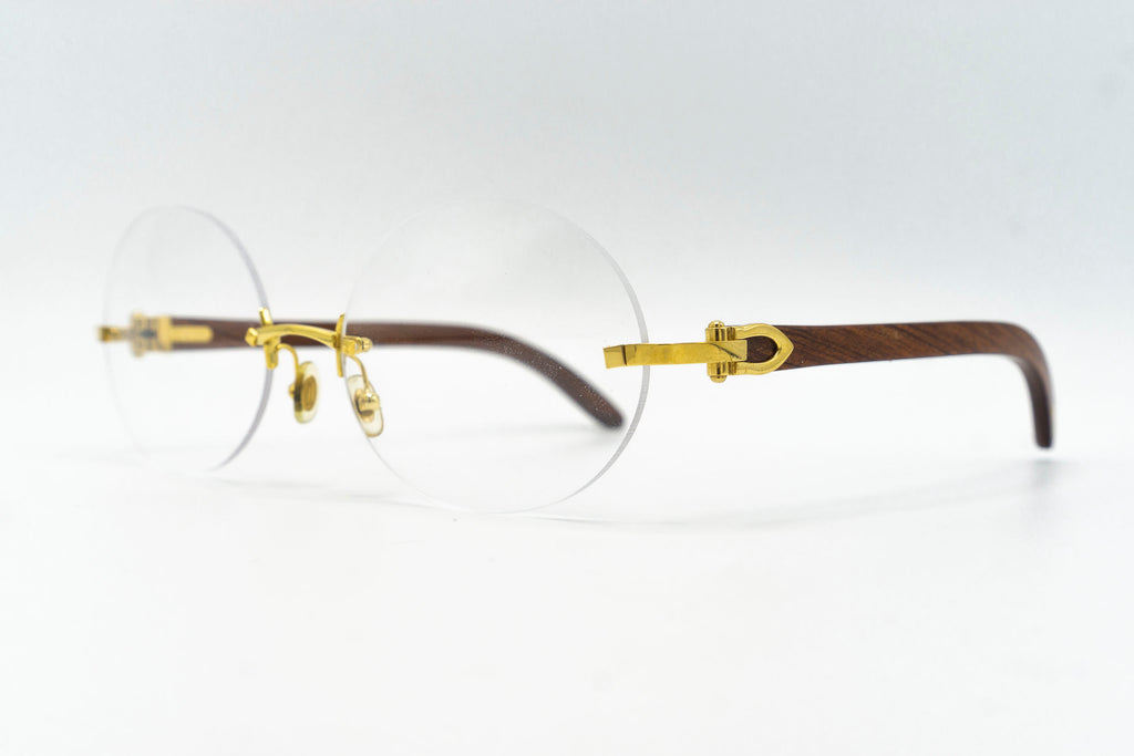 Cartier Rimless Woods - Clear Lens