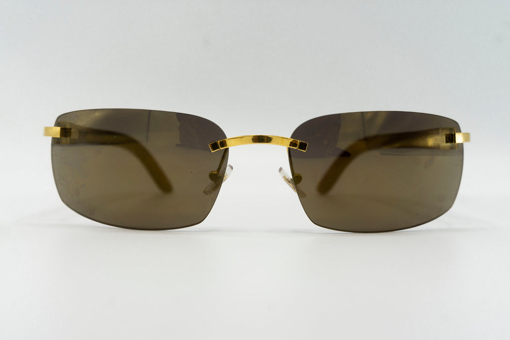 Cartier Rimless Woods (Tiger) - Green Flash