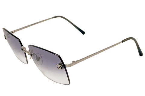 Vintage Chanel 4013 Rimless Silver