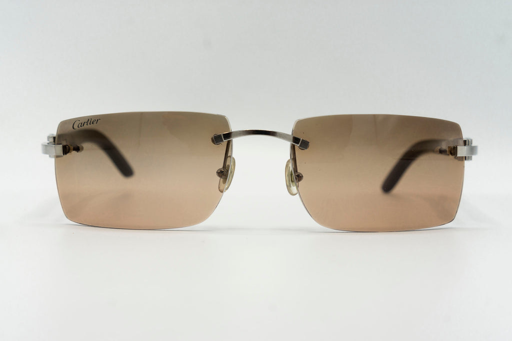 Cartier Rimless Woods - Brown Gradient