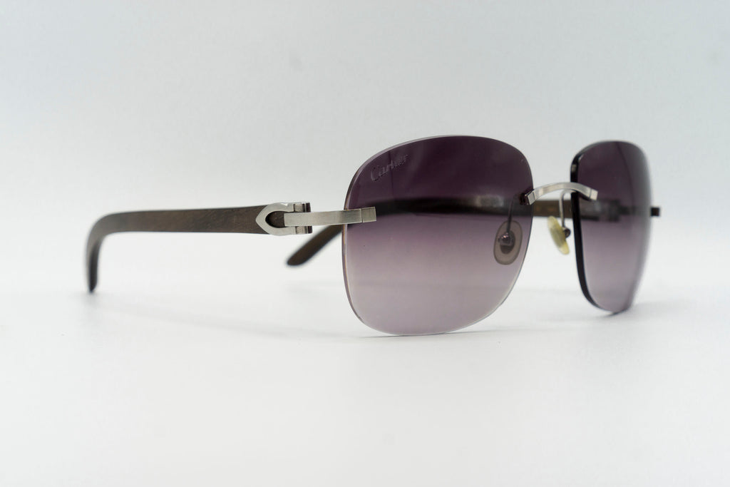 Cartier Rimless Woods - Purple Gradient