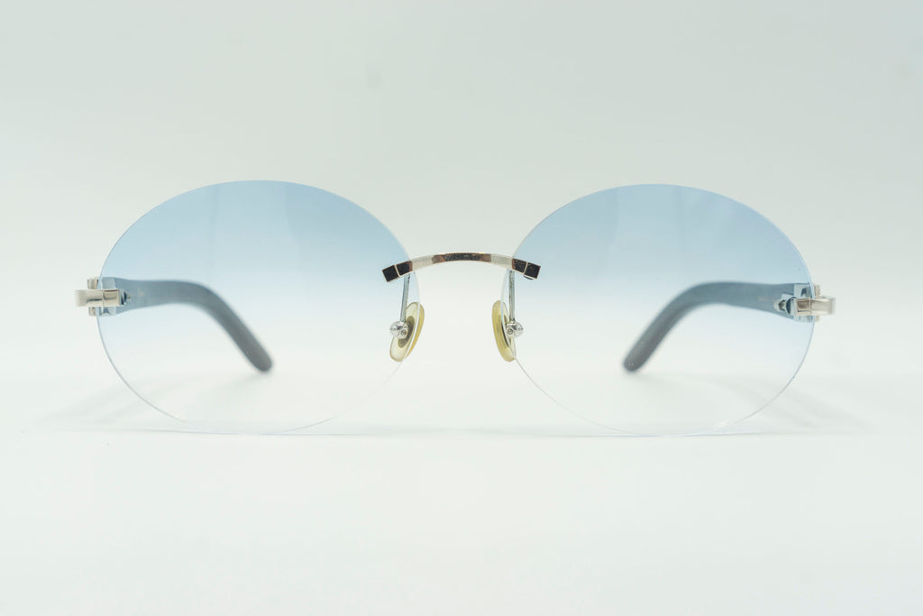 Cartier Rimless Woods - Blue Gradient