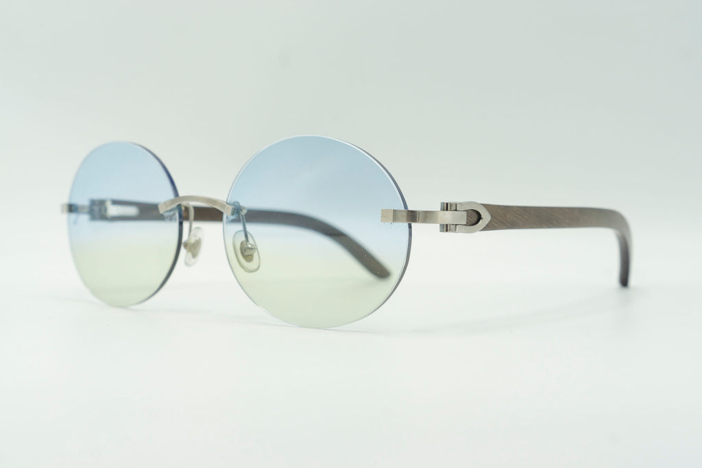 Cartier Rimless Woods - Blue & Green Gradient
