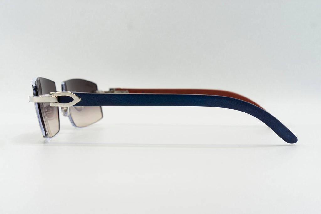 Cartier Rimless Woods - Grey & Brown Gradient