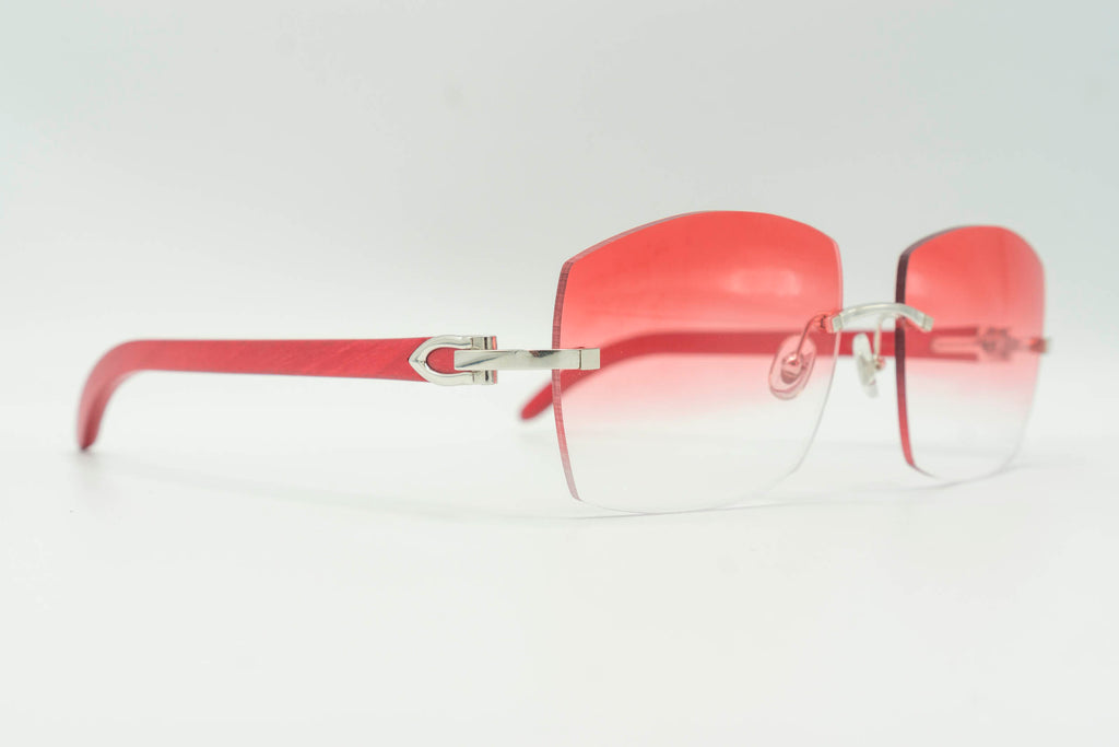 Cartier Rimless Woods - Red Gradient