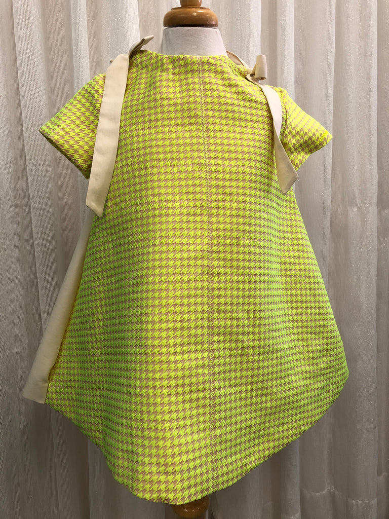 Val SS20 Yellow Houndstooth Dress