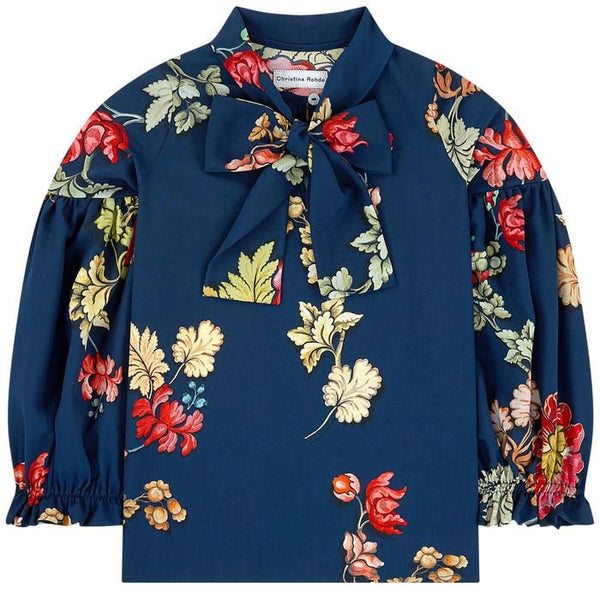CR FW20 Blue Floral Top