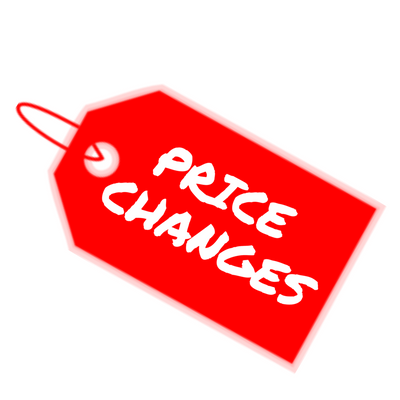 Price Change Starting January 2019