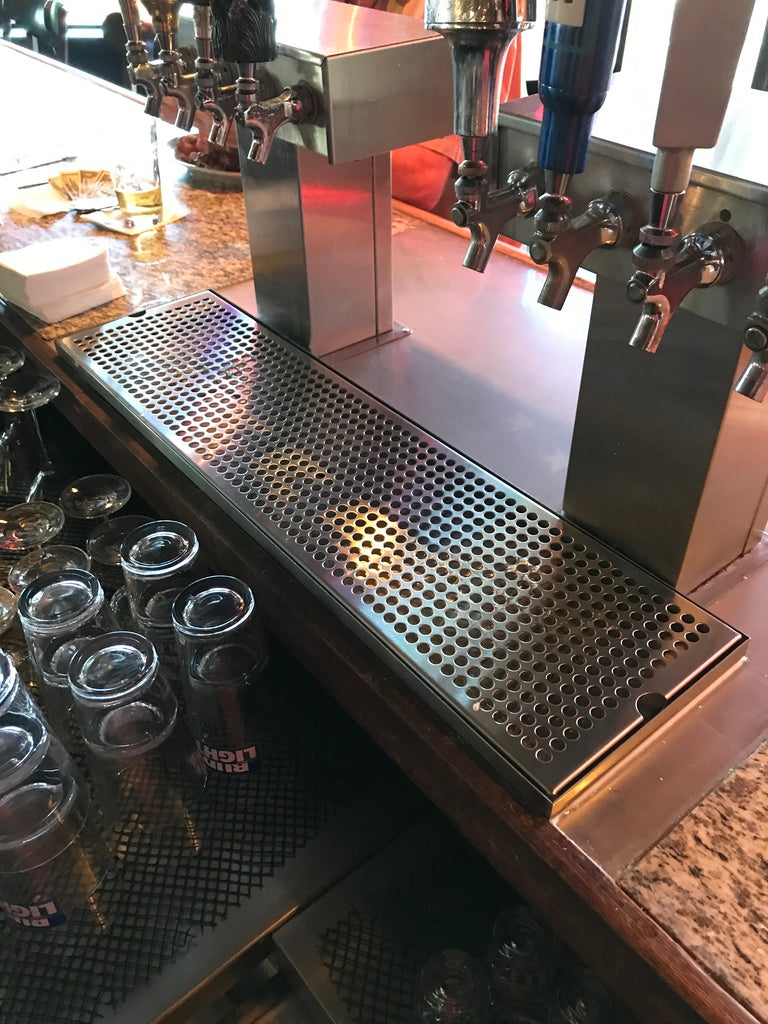 Draft Beer Surface Mount Drip Tray with Draft Beer T Tower