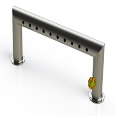 "Draft Beer Pass Thru Tower | 10 Faucet Holes (39"" Long) 