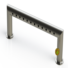 "Draft Beer Pass Thru Tower |12 Faucet Holes (45"" Long) 