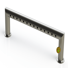"Draft Beer Pass Thru Tower |14 Faucet Holes (51"" Long) 