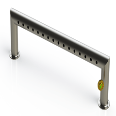 "Draft Beer Pass Thru Tower |16 Faucet Holes (57"" Long) 